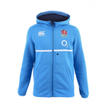2016-2017 England Rugby Training Full Zip Hoody (Vivid Blue)