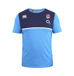 2016-2017 England Rugby Cotton Training Tee (Vivid Blue)
