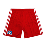 2016-2017 Hamburg Adidas Home Shorts (Red) - Kids