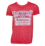 Men's BUDWEISER Vintage Label Red T-Shirt