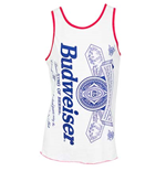 Men's BUDWEISER Label White Tank Top