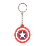 Captain America Rubber Keychain Shield Logo
