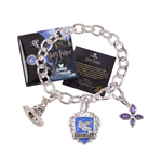 Harry Potter Charm Bracelet Lumos Ravenclaw (silver plated)