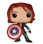 Avengers Age of Ultron POP! Marvel Vinyl Figure Black Widow With Cap's Shield 9 cm