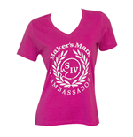 Women's MAKER'S MARK Pink V-Neck T-Shirt