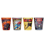 BATMAN And Superman Shot Glass 4 Pack