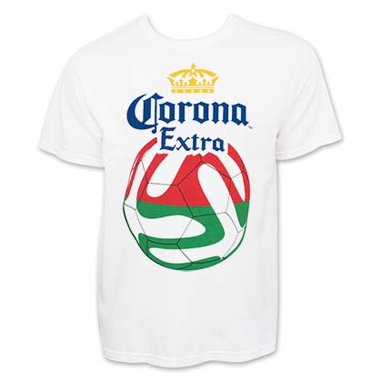 CORONA EXTRA Red And Green Soccer Tee Shirt