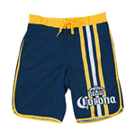 Men's Corona Navy Blue Vertical Racing Stripes Board Shorts