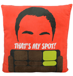 The Big Bang Theory Plush Cushion That's My Spot 40 x 40 cm