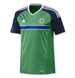2016-2017 Northern Ireland Home Adidas Football Shirt