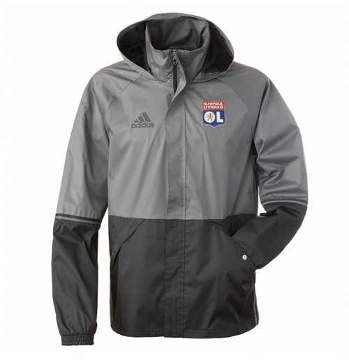 Details about Olympic Lyon All Weather Jacket Official adidas Olympique Lyonnais All Sizes