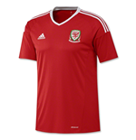 2016-2017 Wales Home Adidas Football Shirt