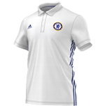 2016-2017 Chelsea Adidas 3S Polo Shirt (White)