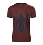 MARVEL COMICS Adult Male Spider-Man Logo T-Shirt, Small, Crimson Red