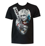 SUICIDE SQUAD Harley Quinn Broken Glass Tee Shirt