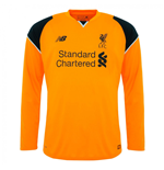 2016-2017 Liverpool Away Long Sleeve Goalkeeper Shirt (Kids)