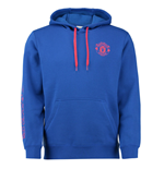 2016-2017 Man Utd Adidas Core Cotton Hoody (Royal Blue)