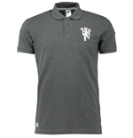 2016-2017 Man Utd Adidas Core Polo Shirt (Dark Grey)