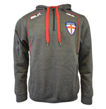 2015-2016 England Rugby League BLK Quarter Zip Hoodie (Grey Marl)