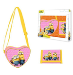 Minions (C) shoulder bag + wallet