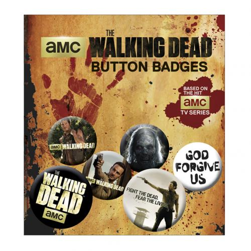 The Walking Dead Button Badge Set
