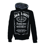 JACK DANIEL'S Adult Male Old No.7 Brand Logo Hoodie, Small, Black/White