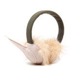 NINTENDO Legend of Zelda Adult Female Furry Overhead Elf Ears Earmuffs, One Size, Green/Beige