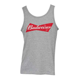 BUDWEISER Men's Grey Tank Top