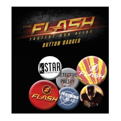 The Flash Button Badge Set