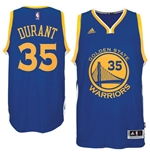 Men's Golden State Warriors Kevin Durant adidas Royal Blue New Swingman Road Jersey