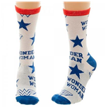 DC Comics WONDER WOMAN White Juniors Socks