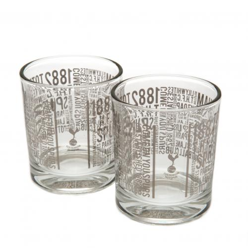 Tottenham Hotspur F.C. 2pk Whiskey Glass Set TX