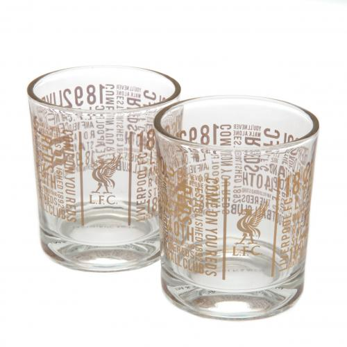 Liverpool F.C. 2pk Whiskey Glass Set TX