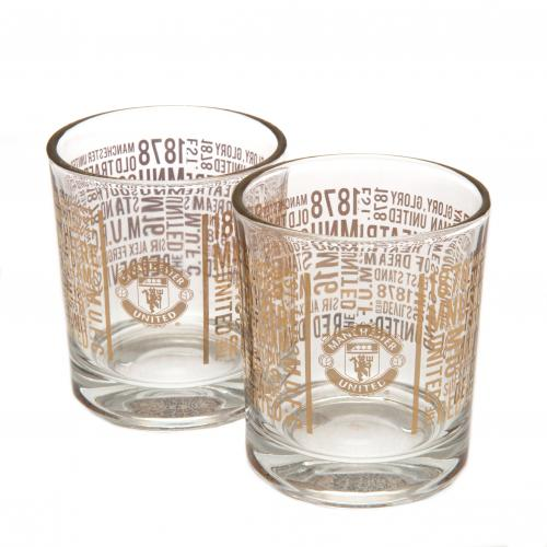 Manchester United F.C. 2pk Whiskey Glass Set TX
