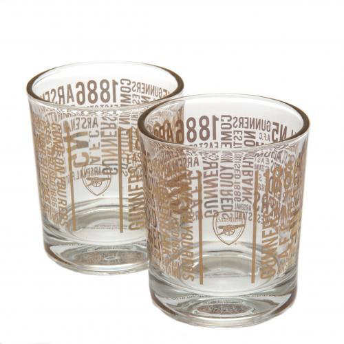 Arsenal F.C. 2pk Whiskey Glass Set TX