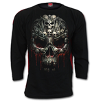 Death Bones - Red Ripped Longsleeve T-Shirt Black