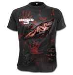 Rick - All Infected - Walking Dead Ripped T-Shirt Black