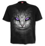 CAT'S Tears - Front Print T-Shirt Black