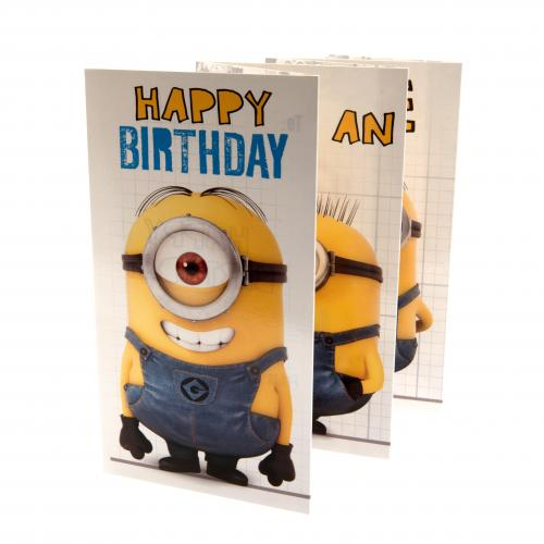 Despicable Me Minion Birthday Card Fold Out
