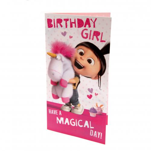 Despicable Me Agnes Birthday Card Girl