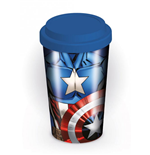 Marvel Comics Travel Mug Captain America Torso