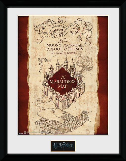 Harry Potter Marauders Map Framed Collector Print
