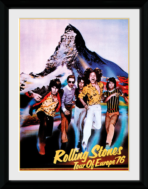 Rolling Stones Tour 76 Framed Collector Print