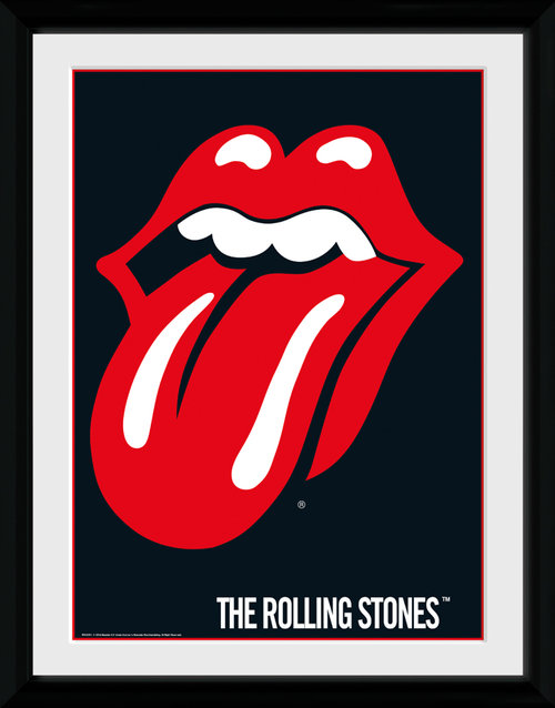 Rolling Stones Lips Framed Collector Print