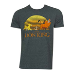DISNEY Lion King Grey Movie Logo Tee Shirt