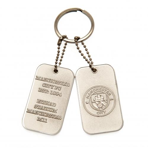 Manchester City F.C. Dog Tag Keyring
