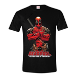 MARVEL COMICS Men's Deadpool Pose T-Shirt, Large, Black