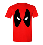 MARVEL COMICS Men's Deadpool Angry Eyes T-Shirt, Medium, Red