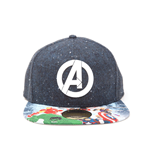MARVEL COMICS Avengers Assemble Logo with Bill Print Snapback Baseball Cap, Multi-Colour