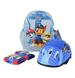 PAW PATROL Helmet, Knee Pads, Elbow Pads & Bag Protection Pack